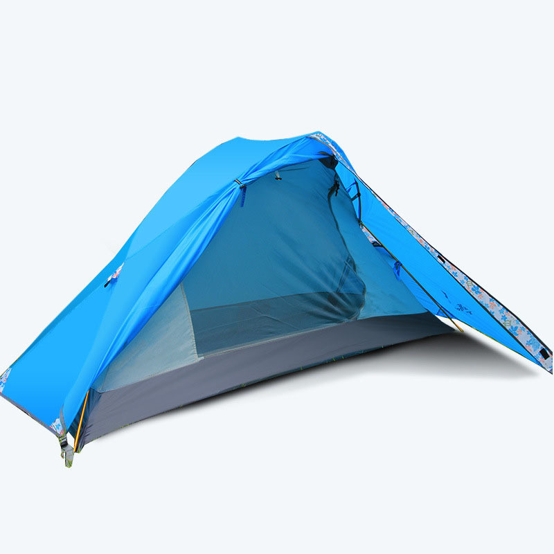 1 Person Ultralight Portable Beach Tent Camping Travel Tourism Hiking 4 Season Awning Tente Double Layer Waterproof Tienda ZP56 brand 1 2 person outdoor camping tent ultralight hiking fishing travel double layer couples tent aluminum rod lovers tent