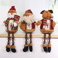Special Offer Hot Sale Santa Claus Snow Man Reindeer Doll Christmas Decoration Xmas Tree Hanging