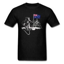 Australia Astronaut Flag Moon Mars Occupy T Shirts CCCP Juri Gagarin Kosmos Sputnik Funny Tshirt For Men Father's Day USSR printio occupy mars