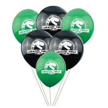 10Pcs/lot 10inch Air Helium Latex Balloon Children Birthday Party Decoration Theme Jurassic World Jungle Decor Globo