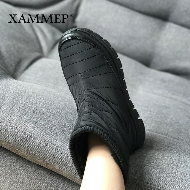 eb8ef60b Damskie buty zimowe marki obuwie damskie Mid łydki buty pluszowe i wełniane  wysokiej jakości Kobiety Buty zimowe Plus duży rozmiar Xammep
