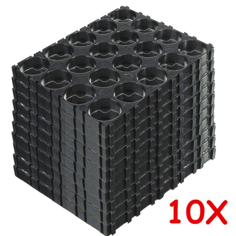 10 pièces 4x5 18650 batterie au Lithium cellule 18650 Batteries Entretoise supports rayonnant coque Plastique Support Entretoise Plastique Support