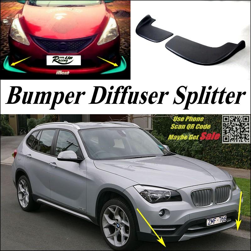 Car Splitter Diffuser Bumper Canard Lip For BMW X1 E84 F48 2009~2016 Tuning Body Kit  Front Deflector Car Fin Chin Reduce Body