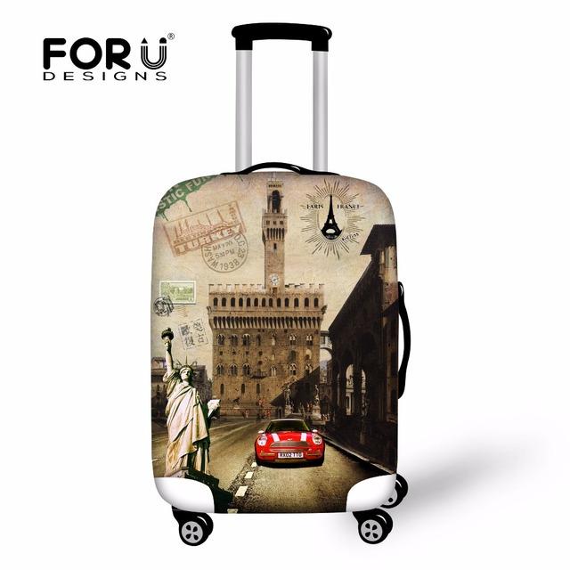 Estátua da liberdade de proteção de bagagem de viagem do Vintage cobre mala para 18 - 30 polegada de proteção de caso