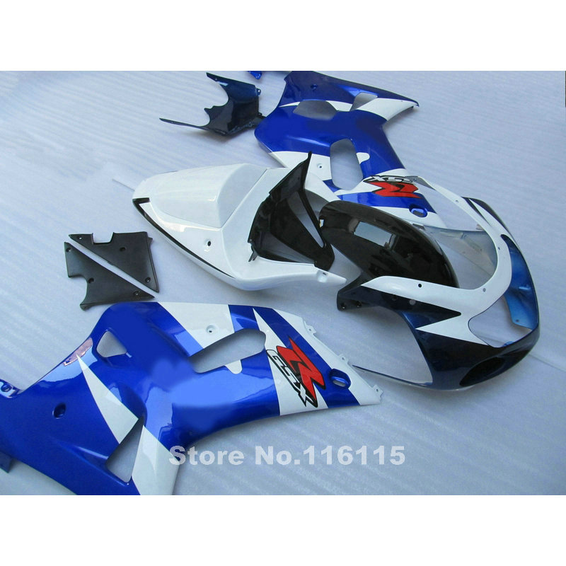 Fairing kit fit for SUZUKI GSXR600 GSXR750 2001 2002 2003 black white blue  fairings GSXR 600 750 K1 01 02 03  QB28