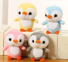 4colors, little cute 10cm approx. small penguin Plush Stuffed Toys , gift baby toys