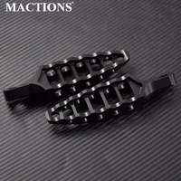 Motorcycle Black CNC 45 Degrees Male Mount Footrests Foot Pegs For Harley Sportster 883 1200 Dyna Softail Touring 1993 2015 2016
