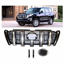 Car Styling Refitting Auto Parts Front Middle Grill Grille kit 3 pcses Fit For Toyota Land Cruiser Prado Vehicle  2014-2016