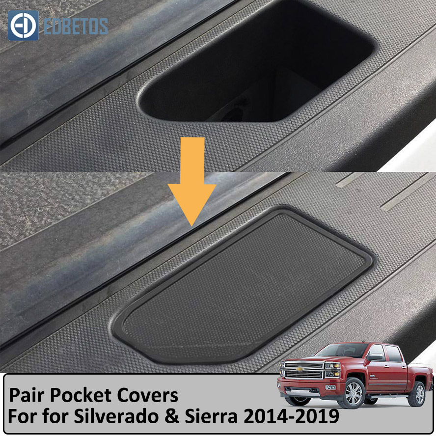 Truck Bed Rail Stake Pocket Covers For Chevy Silverado GMC Sierra Stake Hole Plugs 2014-2018 Pickup Odd Shaped Holes Cover Caps