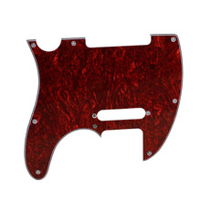 Red Tortoise Shell Pickguard 3 Ply 8 Screw Hole Celluloid and PVC For Telecaster Guitar Parts