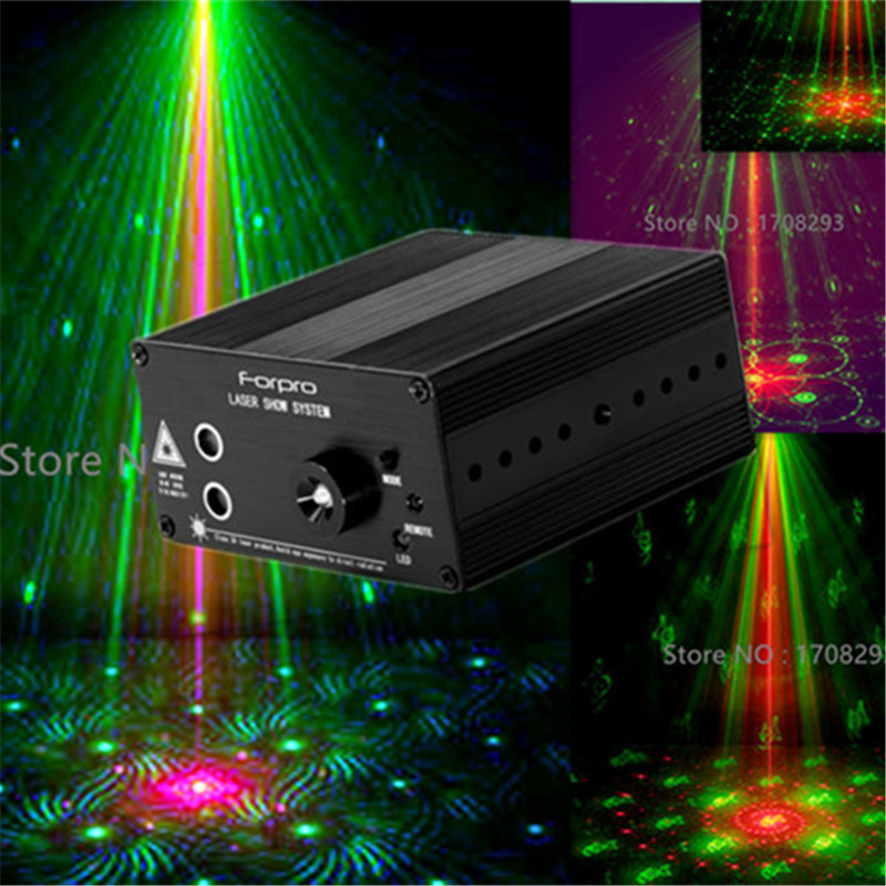 6PCS 48 Figures Laser Stage Light Club Bar DJ KTY Home Party Laser  LED  rotating lights AC110-240V 9W bola de disco led 4pcs stage light led disco light 10w dj laser projector mercury lamps festival bar club party disco strobe lights party lights