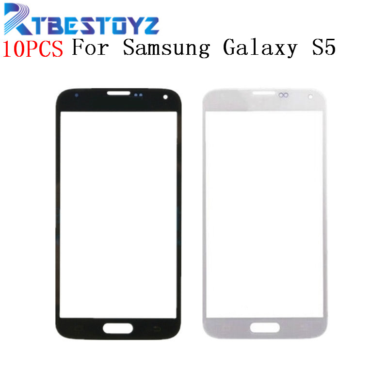 RTBESTOYZ 10 teile/los Vorder Outer LCD Touch Screen Objektiv Glas Für <font><b>Samsung</b></font> <font><b>Galaxy</b></font> <font><b>S5</b></font> G900f i9600 Teile Ersatz image