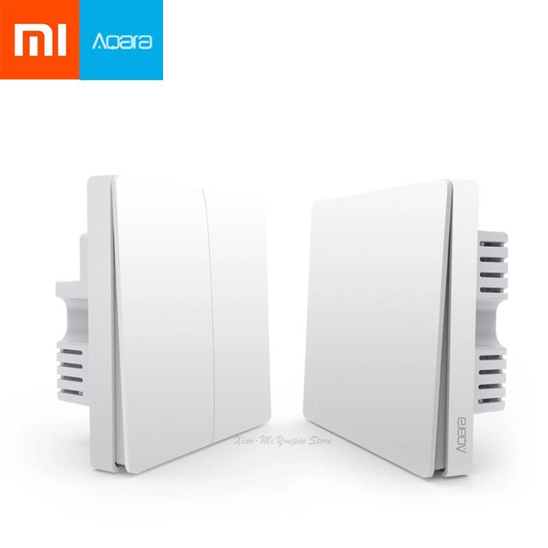 Xiaomi Aqara Wall Switch Smart Light Control ZigBee Version Wireless Connection Single Key Control APP Remote