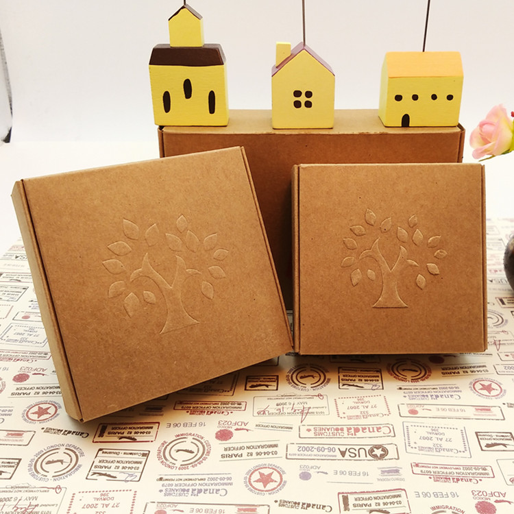 Michaels Brown Favor Boxes : Aliexpress buy free shipping embossing tree kraft