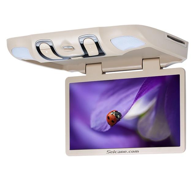 Seicane 15.6 polegada Tela de Controle Remoto Universal Telhado Monte DVD Player Multi Idiomas do OSD Sustentação FM Transmissor IR Jogo de Entrada