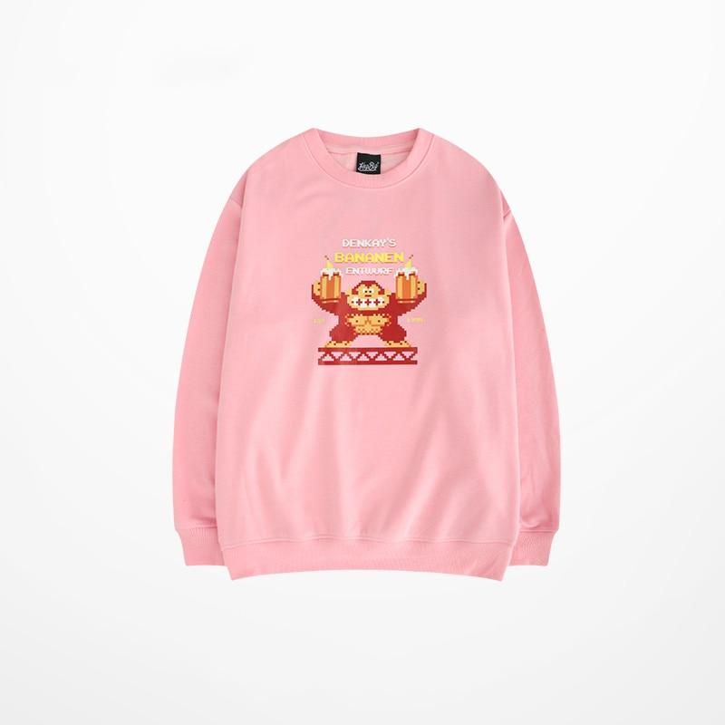 3d Cartoon Prind Hoodies Skateboard Hip Hop High Street Sweatshirt Homme Korean Fashion Harajuku Hoodies For Couple Pink in Hoodies amp Sweatshirts from Men 39 s Clothing