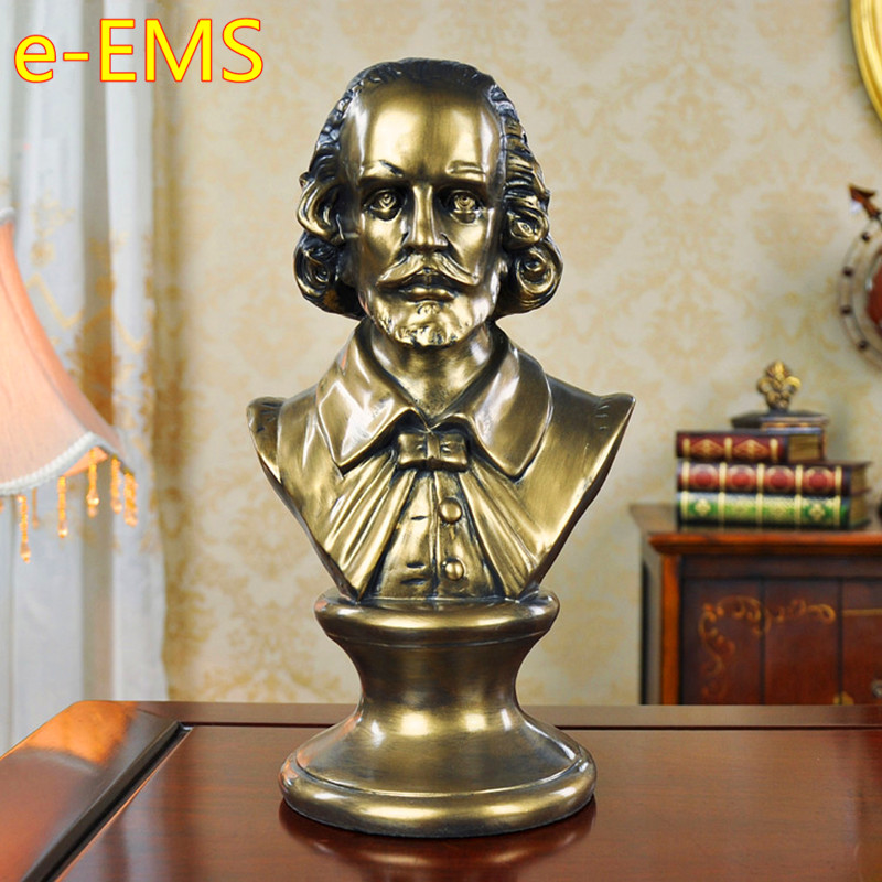 Renaissance William Shakespeare Bust Figure Statue Christianity Resin Craftwork Continental Home Decorations Art Material L2571 кольца sjw rw051