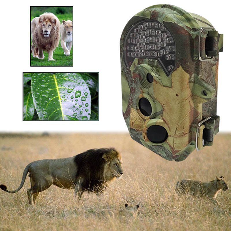 1080P Practical Effectively Waterproof Outdoors Hunting Trail Game Camera Senors Scouting Wildlife Wide Angle Lens senors серебряный