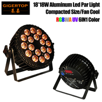 TIPTOP TP P64 250W Cast Aluminum 18x18W Flat Led Par Light Non Waterproof Fan Blowing 3
