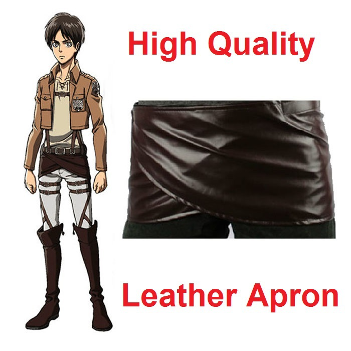 Shingeki no Kyojin Attack On Titan Deluxe Edition Cosplay Costumes Chocolate Leather Apron Belt Skirt free shipping