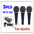 3pcs wholesale Top Quality Beta 58 58A Clear Sound Handheld Wired Karaoke Microphone