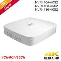 Оригинал Dahua с логотипом NVR4104-4ks2 NVR4108-4ks2 NVR4116-4ks2 Смарт 1U мини PoE NVR H.265 8mp 4ch 8ch 16ch сети видео Регистраторы