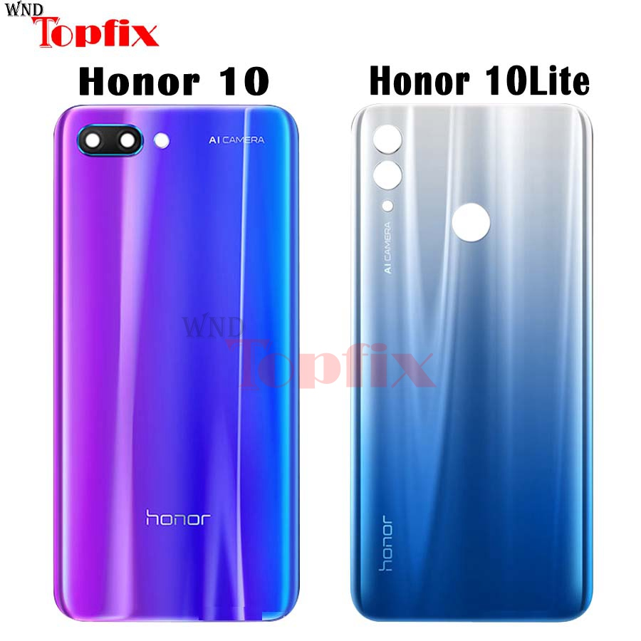 Original Huawei Honor 10 Back Battery Cover Door Rear Glass Housing Case Huawei Honor 10 Lite Battery Cover Honor 10 Housing