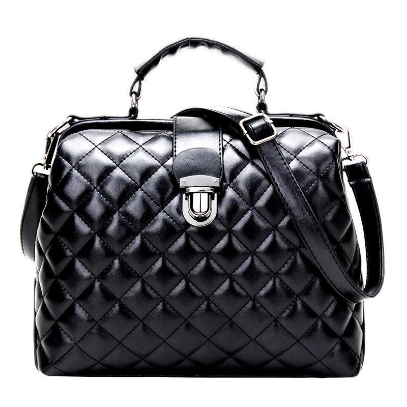 Trendy Diamond Lattice Doctor Bag Women 2016 New Fashion font b Handbag b font Classic Plaid