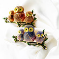 Wholesale Owl Brooches For Women Crystal Enamel Jewelry Clothing Brooch Accessories 2016 Hot Bset Selling Freeshipping
