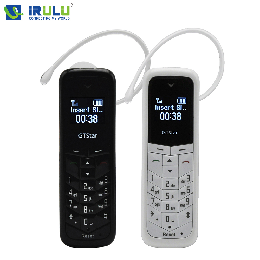 iRULU GT Star BM50 Unlocked Bluetooth Mini Mobile Phone 0 66 inch Universal Headphone with Hands
