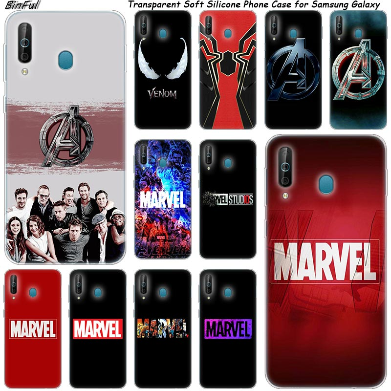 <font><b>Marvel</b></font> The Avengers <font><b>logo</b></font> Silicone Phone <font><b>Case</b></font> For <font><b>Samsung</b></font> <font><b>Galaxy</b></font> A80 A70 A60 A50 A40 A40S <font><b>A30</b></font> A20E A2CORE M40 Note 10 Plus 9 8 5 image