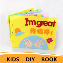Handmade Felt Toy Book DIY Crafts For Kids Material Para Manualidades Early Learning Educational Aids Story Package