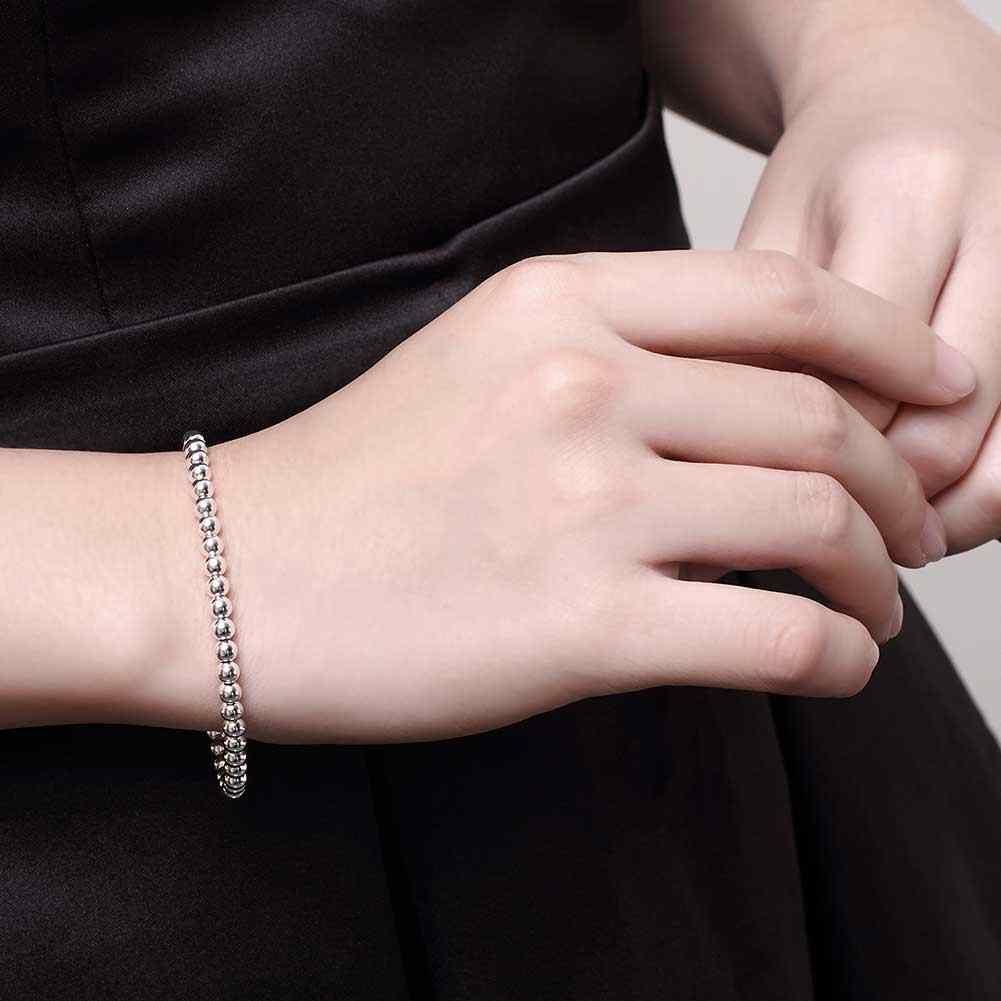 INALIS Unisex łańcuch popcorn bransoletka Hollow sferyczne posrebrzane bransoletka z paciorkami dla kobiet mężczyzn biżuteria
