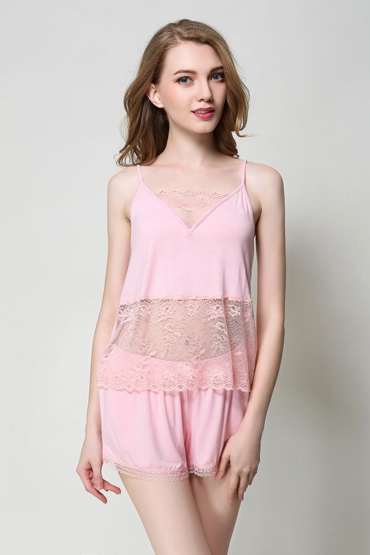 Free shipping.Brand original women sexy Pajama sets,pink sleeping clothing,summer homme set femme soft lace sales