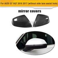Углеродное волокно  замена заднего зеркала  крышки  Накладка для Audi Q7 SQ7  4 двери  SUV S Line 16-17  без боковой помощи