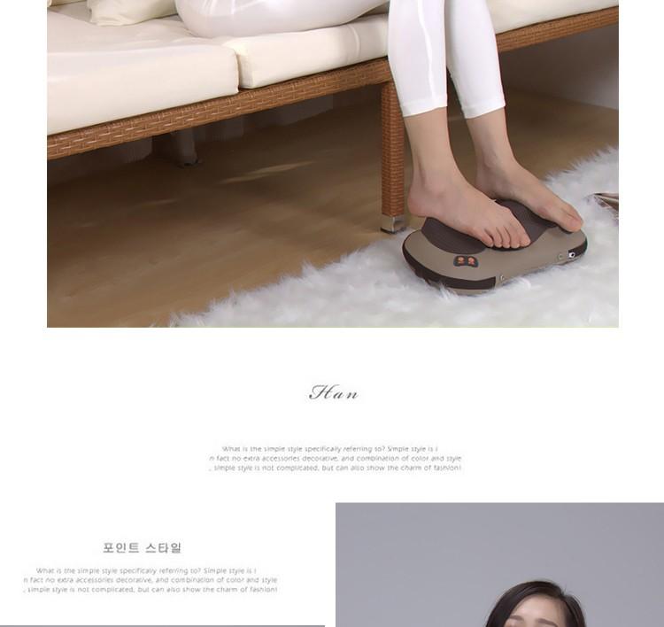 JinKaiRui Vibrating Kneading Neck Body Massager Hammer Pillow Infrared Shiatsu Electric Shoulder Back Massage Massages Car/Home 7