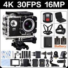 4 К 30FPS 16MP WI-FI действие Камера 2 Спорт HD 1080 P 60fps Cam Подводные Депортива Go Водонепроницаемый 4 К 170D Mini 3 Pro Спорт Cam