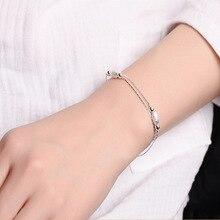 Mulheres de luxo Da Marca Pulseira 925 Prata Único Oval Charm Bracelet para Mulheres Pulseiras & Bangles Jóias