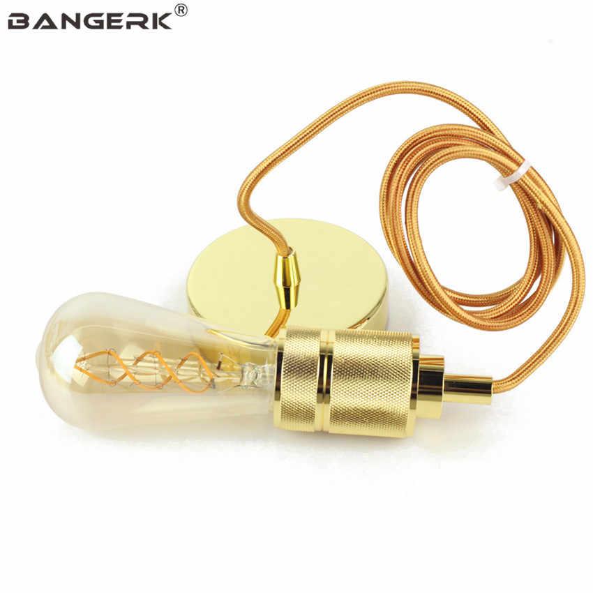 Промышленные Эдисон лампа базы Винтаж подвесные светильники E27 AC110 ~ 220 V винт лампочку Алюминий Античная фитинги освещение