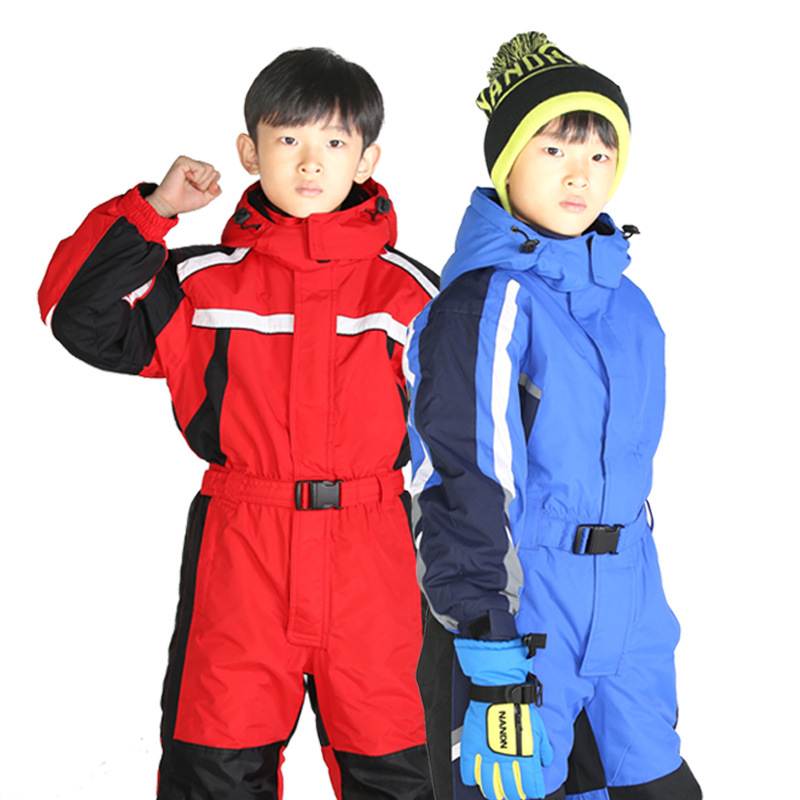aac0ce24 2~7T Winter Baby Ski Romper Boy Snow Catsuit Waterproof Outdoor Snow  Rompers Kids Jumpsuit Girls Overall Windproof Creepers