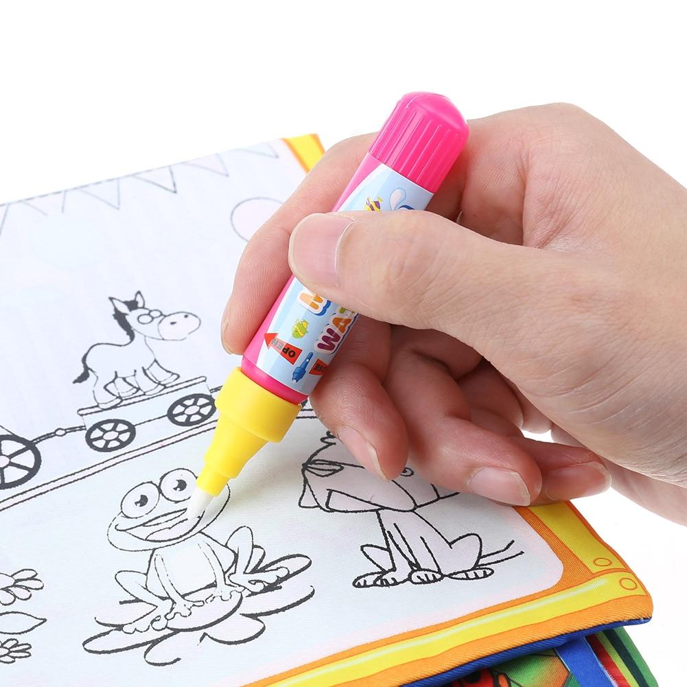 çocuklar Sihirli Su çizim Kitabı Hayvanlar Boyama Su Boyama Bez