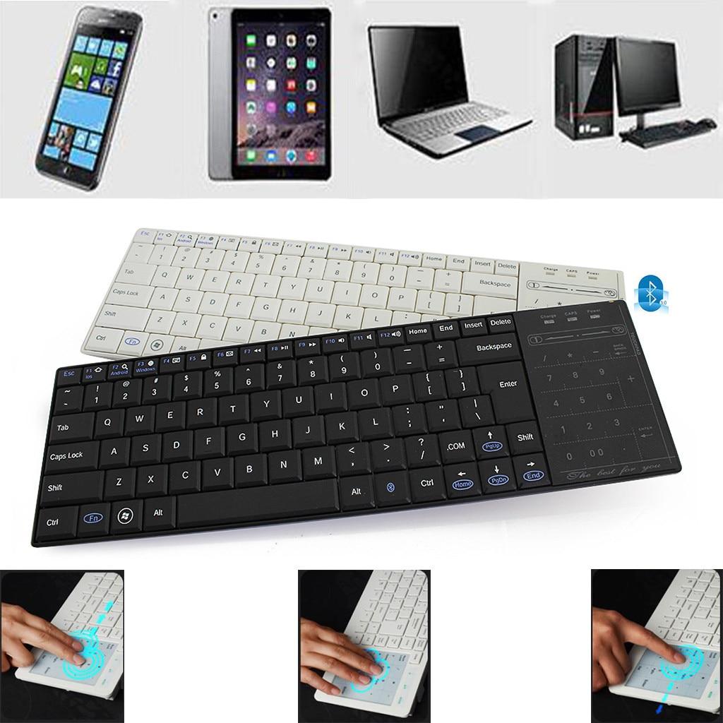 Wireless MultimediaKeyboard Dual Bluetooth ModeDigital Portable Digital Touch Response Sliding Keyboard-in Keyboards from Computer & Office
