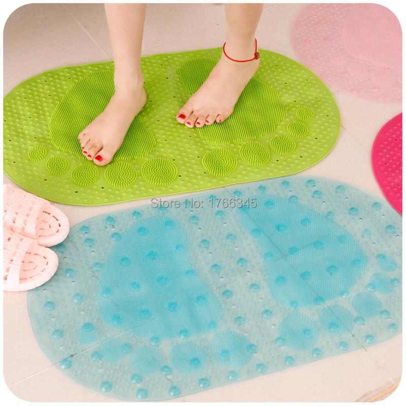 absorbent hollow plastic shower bath mat nonslip mat bathroom toilet bathroom floor mat - Plastic Floor Mat