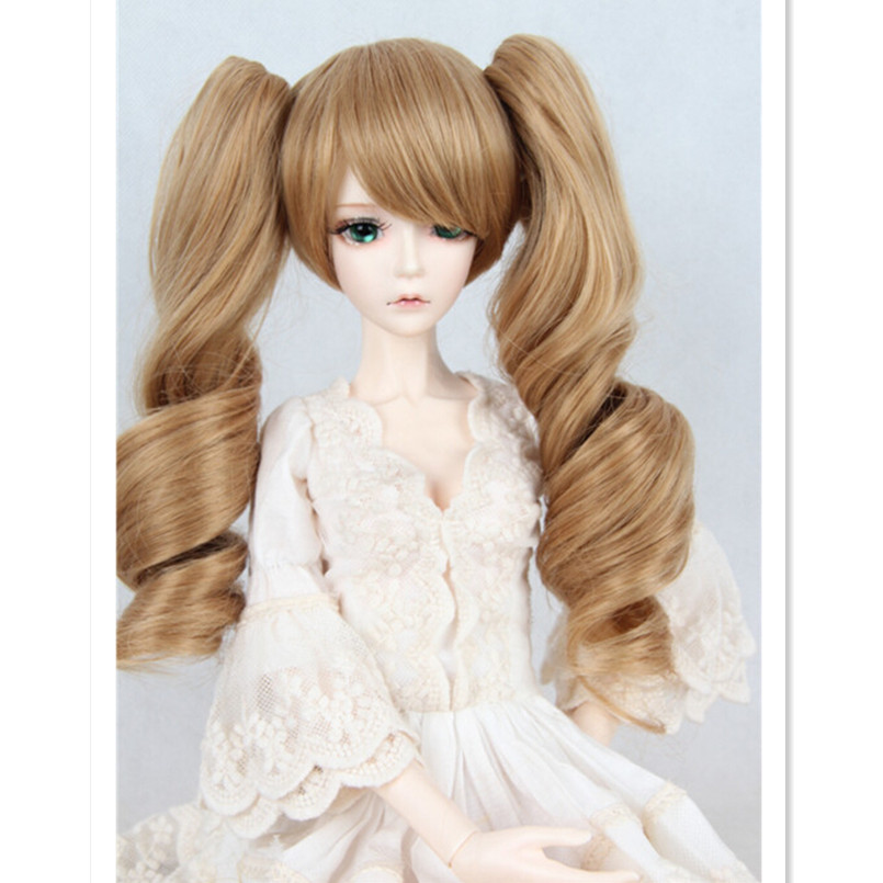 New Coming 1/3 1/4 1/6 BJD Doll Wigs Wavy Long Hair for Dolls,Novelty High Temperature Silk Doll Hair l email blue mixed 60cm long wavy women lace front wigs heat resisting hair wigs lc96