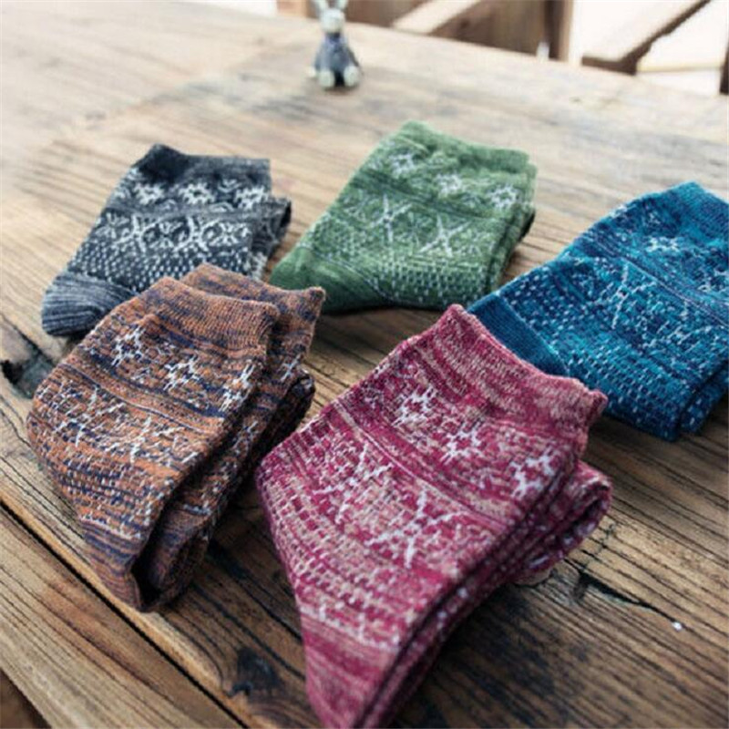 Purposeful 5pairs/lot New Fashion Mens Retro Geometric Cotton Socks Novelty Men National Thick Casual Dress Socks Harajuku Tube Socks Men's Socks