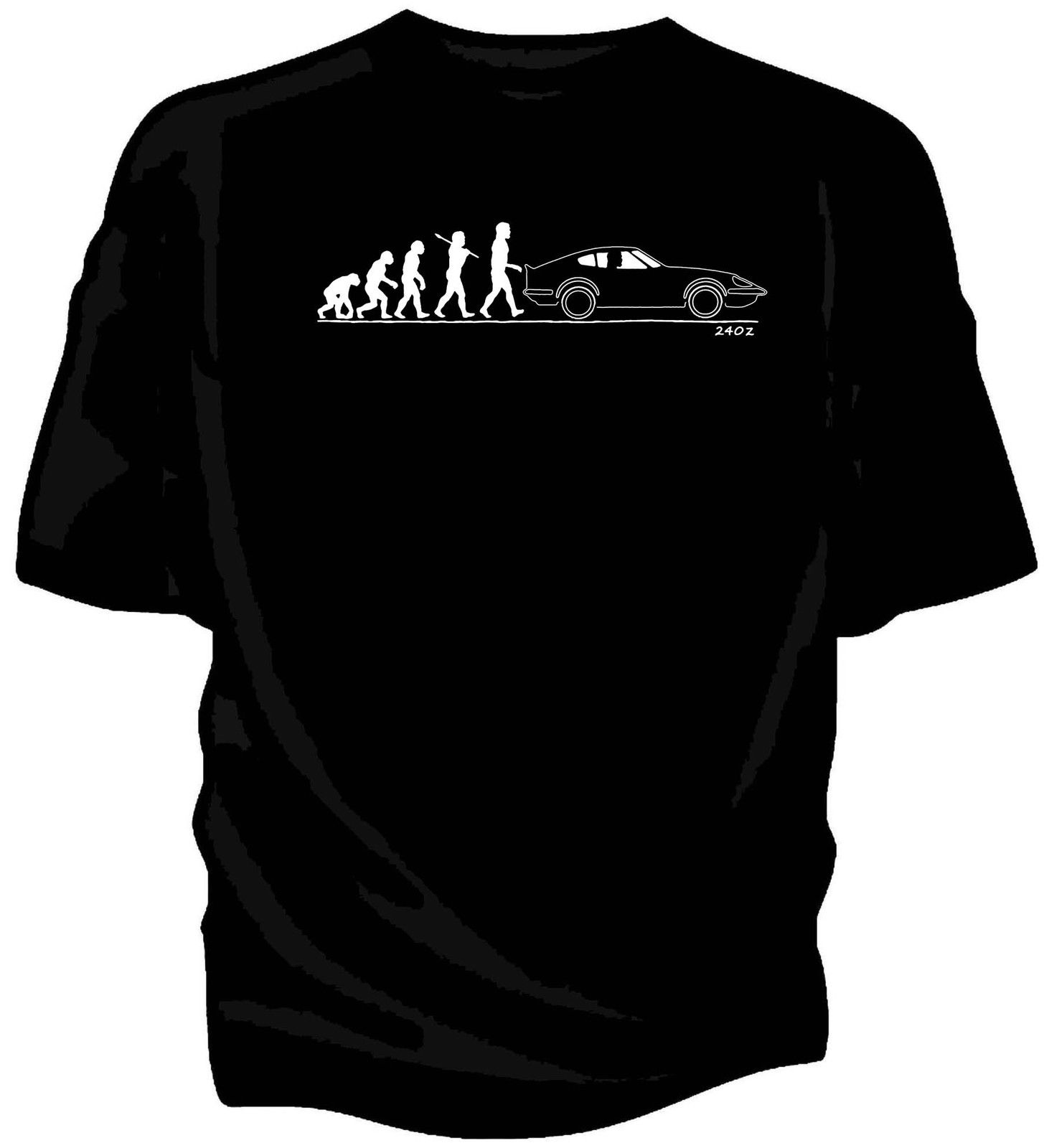 Hot Selling Top Fitness Male Evolution of Man Classic Car T-Shirt Classic Japanese Car Fans <font><b>240Z</b></font> Homme Short Sleeve image