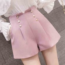 Women clothes 2019 Waist Wide legged shorts female summer style Korean version student wrinkled  shorts to wear цена и фото