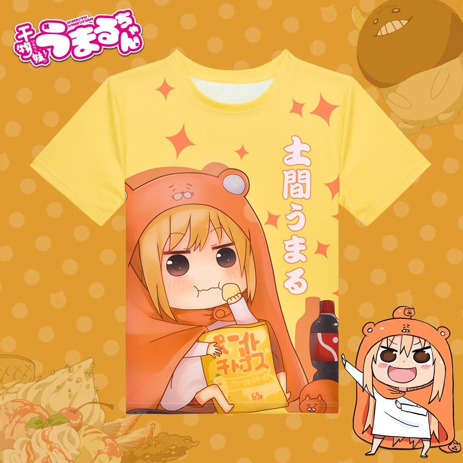 Anime Himouto! Umaru Chan marškinėliai Kawaii poliesterio marškinėliai vasaros aktyvios animacijos vyrų moteriški drabužiai