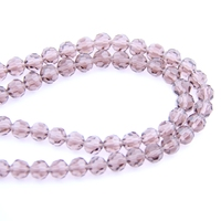 High Quality Lavender Crystal 32 Faceted Ball Beads 6mm K9 Glass Round Shape Loose Spacer Bead For Home Decoration