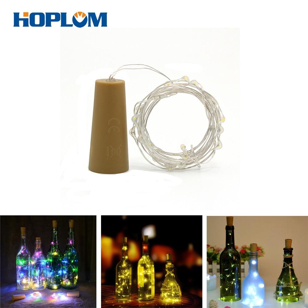 20 LED Cork Shape Fairy Lights Night Light Wine Bottle Strip Lamp Battery Operate String Lights For Festival Party Decoration